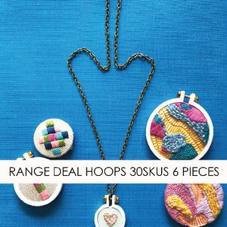 RANGE DEAL DANDELYNE HOOPS 30SKUS 6 PIECES