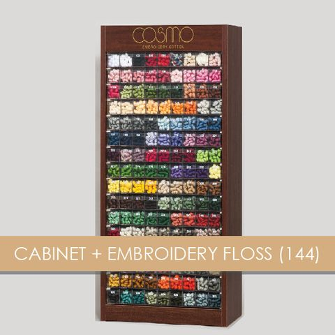 CABINET + EMBROIDERY FLOSS 144