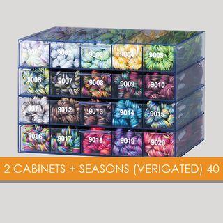 2 CABINETS + SEASONS (VERIGATED) 40