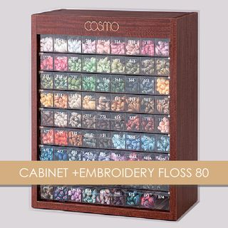 CABINET +EMBROIDERY FLOSS 80
