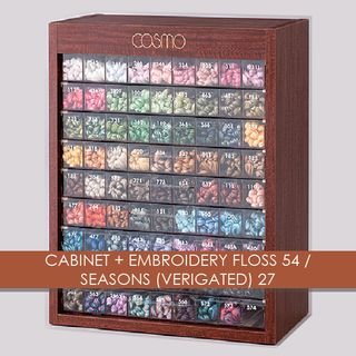 CABINET + EMBROIDERY FLOSS 54/SEASONS VERIGATED 27