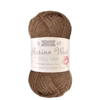 TILDA YARN DOLL HAIR BROWN