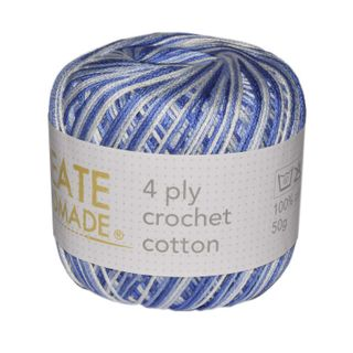 4 PLY CROCHET COTTON VER BLUE