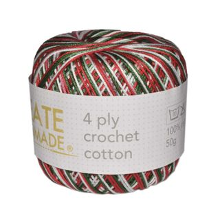4 PLY CROCHET COTTON VER XMAS