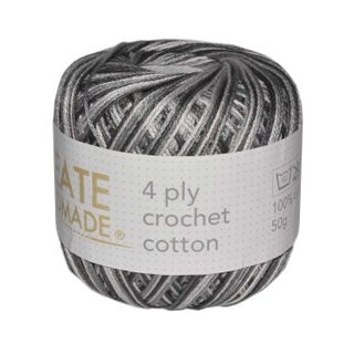4 PLY CROCHET COTTON VER GREYS