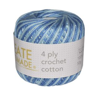 4 PLY CROCHET COTTON VER TURQ