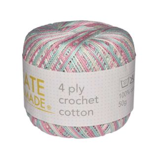 4 PLY CROCHET COTTON VER PASTEL