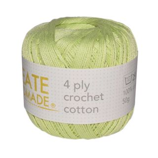 4 PLY CROCHET COTTON HONEY DEW