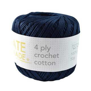 4PLY CROCHET COTTON NAVY