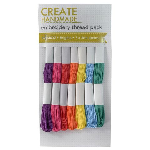 BW EMBROIDERY THREAD PACK BRIGHTS