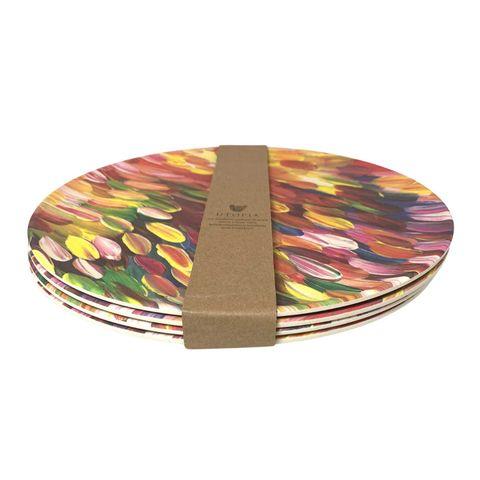 Bamboo Plate Set-Gloria Petyarre