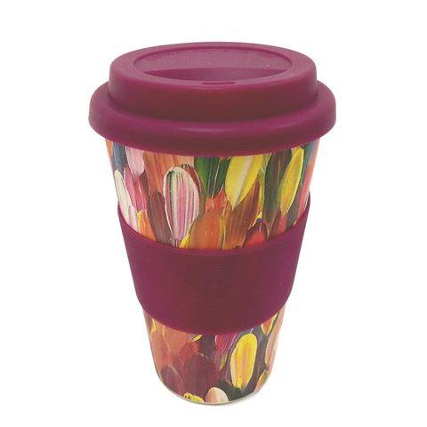 Bamboo Eco Coffee Cup - Gloria Petyarre