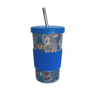 Large Tumbler Straw/Lid-Colleen Wallace