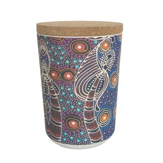 "Bamboo Food Canister 6""-Colleen Wallace"