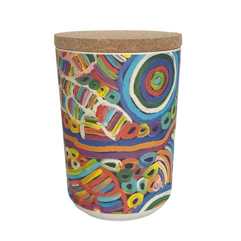 """Bamboo Food Canister 6""""-Betty Club"""