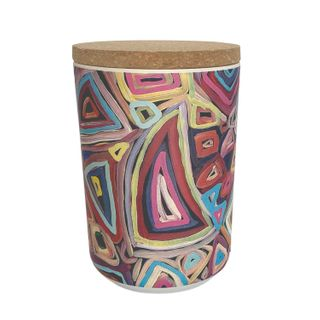 "Bamboo Food Canister 6""-Janelle Stockman"