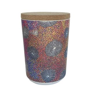 """Bamboo Food Canister 6""""-Katie Morgan"""
