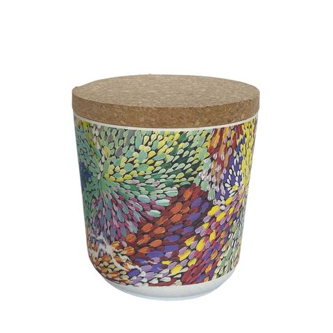 """Bamboo Food Canister 4""""-Janelle Stockman"""