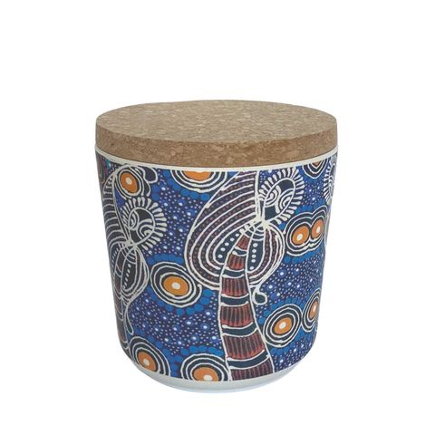 "Bamboo Food Canister 4""-Colleen Wallace"