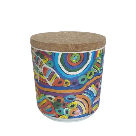 "Bamboo Food Canister 4""-Betty Club"