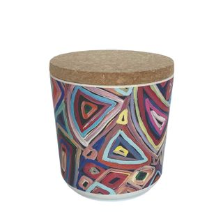 "Bamboo Food Canister 4""-Janelle Stockman"