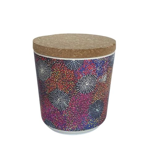 """Bamboo Food Canister 4""""-Katie Morgan"""