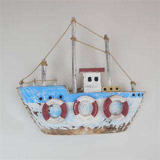 Drift Fishing Boat Wall 35cm x 30cm high