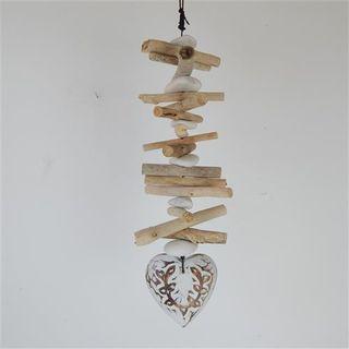 Menya Decorative Heart Single White10cm x 40cm