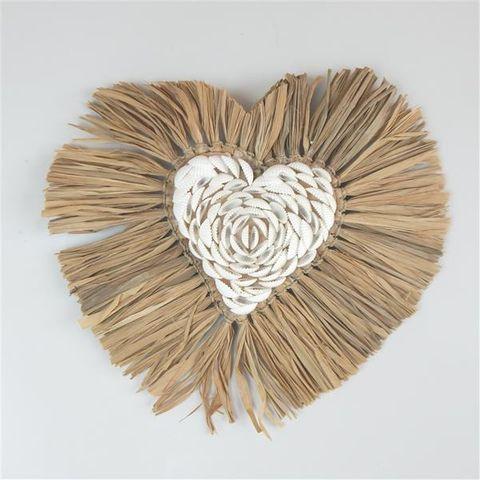 Aman Shell Heart 30cm x 30cm high