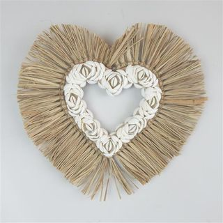 Aman Shell Hollow Heart 33cm x 33cm high