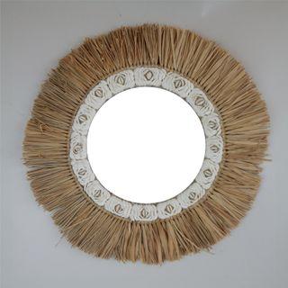 Aman Shell Mirror 60cm dia / 30cm Mirror dia
