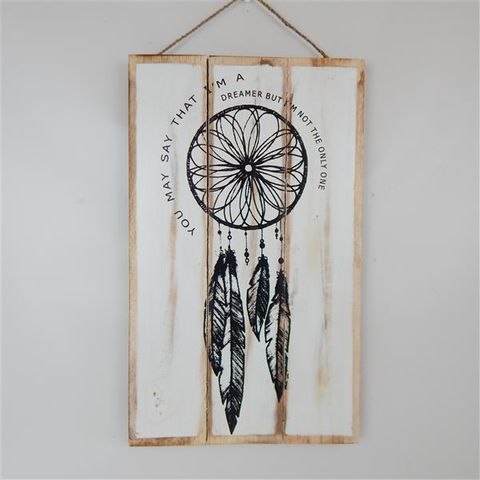 """Sign """"You may say I'm a dreamer"""" 50cm x 30cm high"""