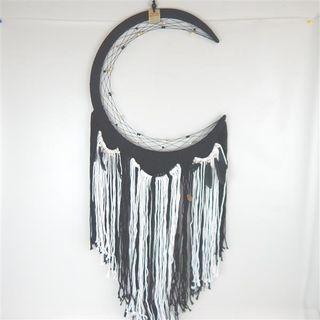 Moon Circle Dreamcatcher Black 50cm x 130cm long