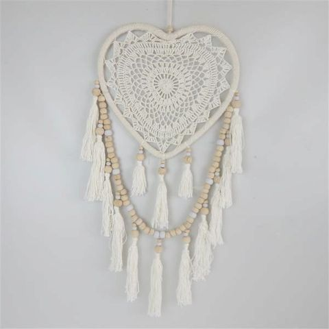 Boho Heart Dreamcatcher Cream 28cm x 60cm long