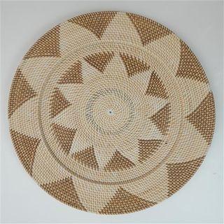 Lombok Deco Plate Brown/Natural 60cm dia
