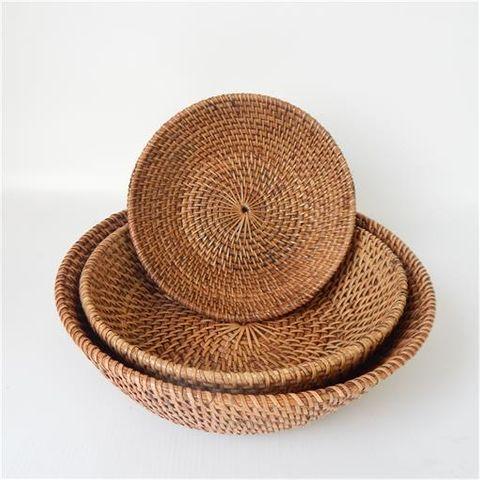 Lombok Bowls s/3 Antik Brown 20cm/25cm/30cm dia