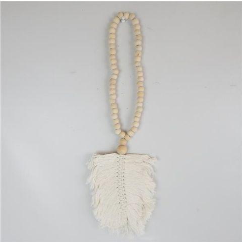 Leaf Necklace Cream 14cm x 50cm long