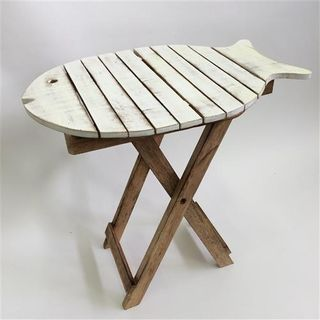 Fish Table Tall Whitewash 50cm x 35cm x 50cm high