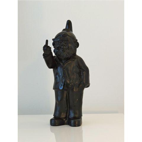 Pop Gnome w Finger Black 35cm high