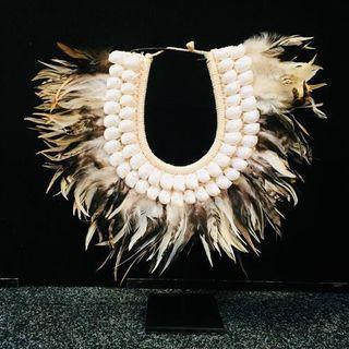 Kora Tribal Necklace Naturals 35cm dia