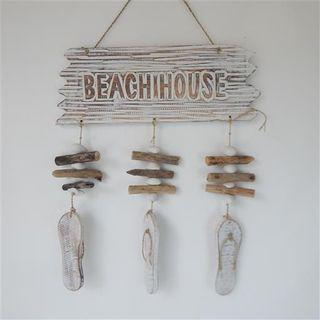 Drift Beach House Hanging w Jandal Whitewash 40cm x 45cm