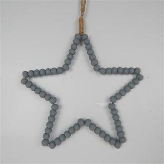 Beaded Star Grey 30cm x 30cm high