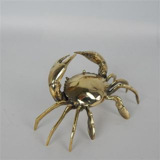 Brass Crab 15cm x 10cm x 7cm high