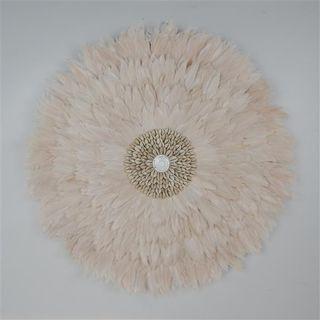 Feather Circle Mocha 65cm dia