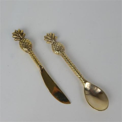 Brass Tropical Pineapple Knife 13cm