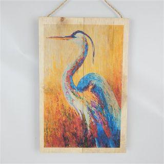 Exotic Bird Water Heron 20cm x 30cm high