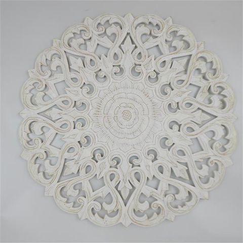 Circle Mandala Chunky 60cm Whitewash