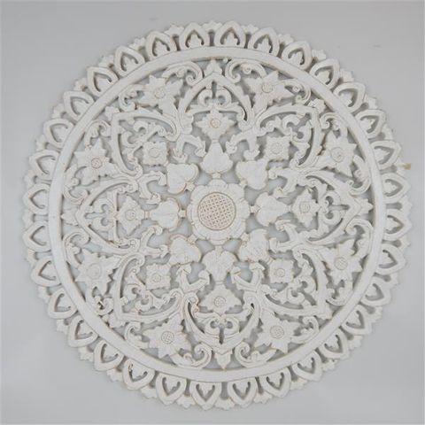 Circle Mandala Fine 60cm Whitewash
