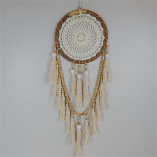 Boho Dreamcatcher w Wooden Beads 28cm x 80cm long