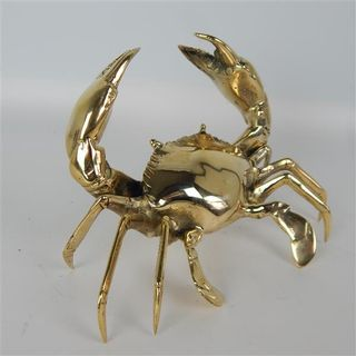 Brass Crab 20cm x 17cm x 15cm high